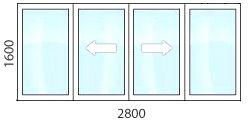 остекление лоджии раздвижными пластиковыми окнами