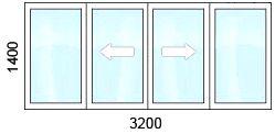 остекление лоджии раздвижными теплыми окнами