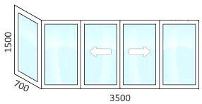 остекление балкона раздвижным теплым пластиком