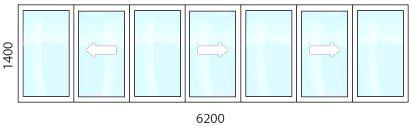теплое раздвижное остекление балконов