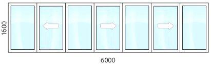 теплое остекление балкона раздвижными створками